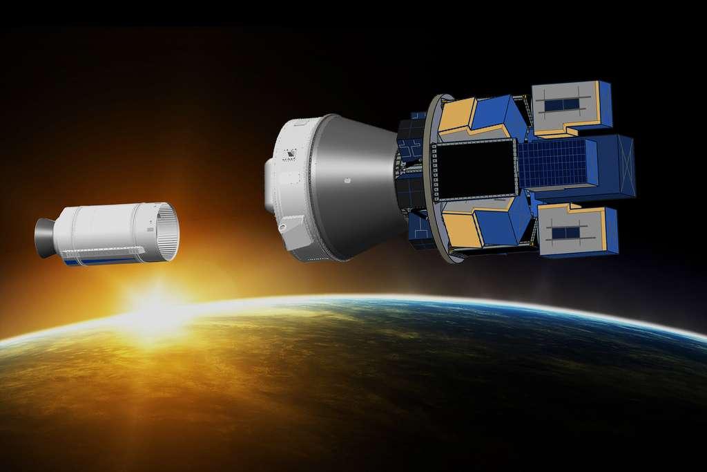 Le futur dispenseur SSMS de Vega pour les lancements multiples de petits satellites. © ESA