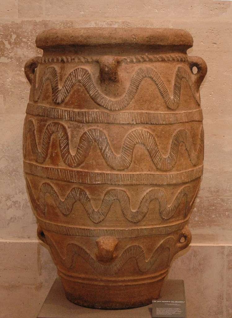 Pithos, jarre destinée au stockage de denrées alimentaires non périssables (Cnossos). © DP