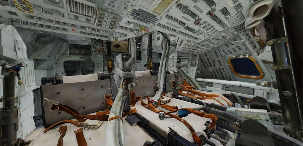 Les détails sont à couper le souffle dans cette réalisation 3D du module de commande Columbia d'Apollo 11. © Smithsonian, Autodesk