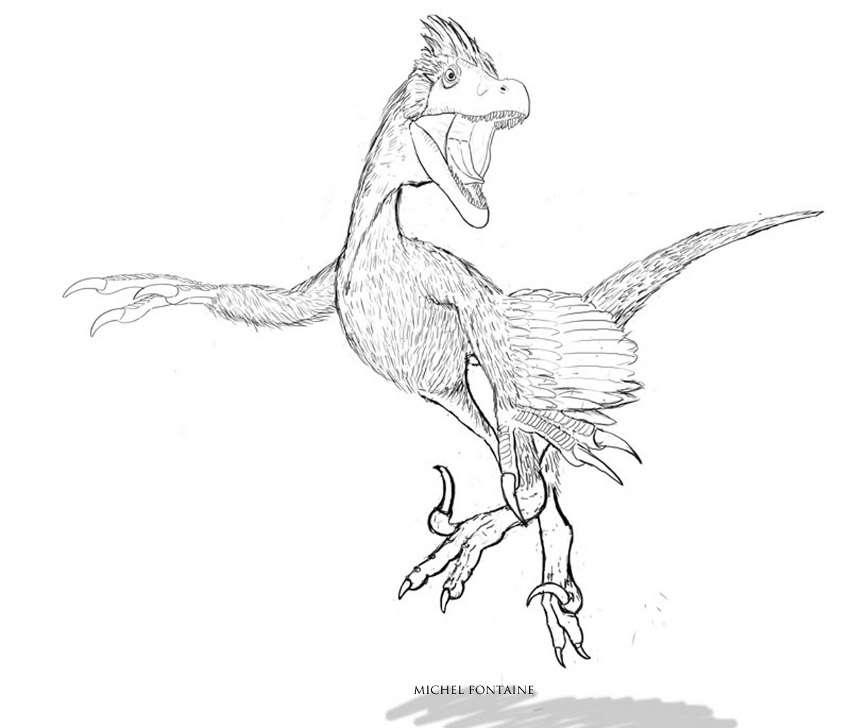 La reconstitution paléontologique. © Michel Fontaine