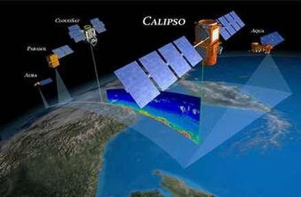 Calipso a fait ses premiers relevés, et il est maintenant prêt à remplir sa mission : percer les mystères des nuages et des aérosols (Crédits : NASA)
