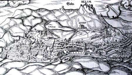 Salins-les-Bains au XVIIe siècle. © DR