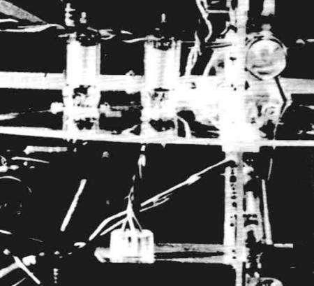 Détail de l'intérieur de Spoutnik 1. Archives russes.