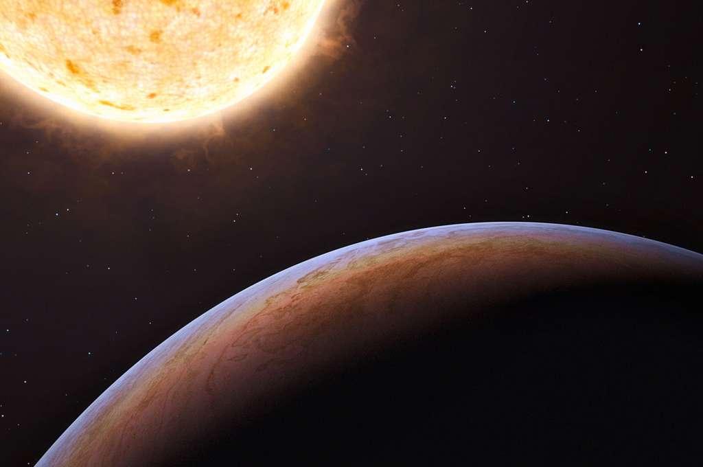 Une vue d'artiste de HIP 13044 b autour de son soleil. © ESO/L. Calçada