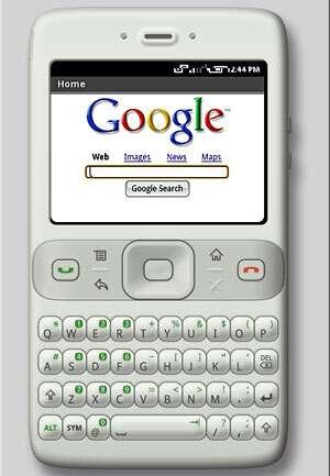 Téléphone portable sous Android.