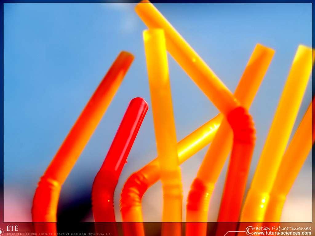 Eté : pailles colorées