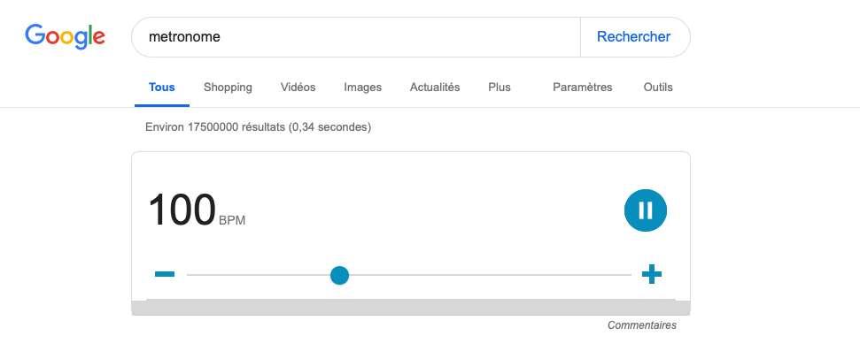 Un outil Google destiné aux musiciens.