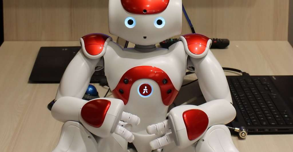 Le robot Nao, de l'entreprise Aldebaran Robotics, au salon Innorobo à Lyon. © Jean Bono, CC by-sa 4.0