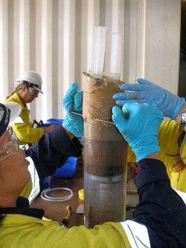 Les chercheurs de la Commonwealth Scientific and Industrial Research Organisation (CSIRO) ont analysé des échantillons de fonds marins pour y trouver des microplastiques. © CSIRO