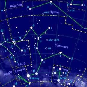 Constellation du Centaure.