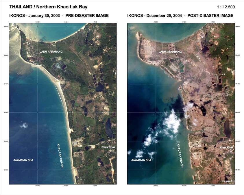 Baie de Khao Lak - Thaïlande : avant et après le Tsunami