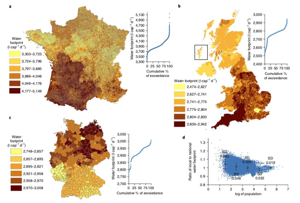 Chaque Français utilise entre 3.303 et 5.149 litres d'eau par jour pour sa nourriture. © EU 2018