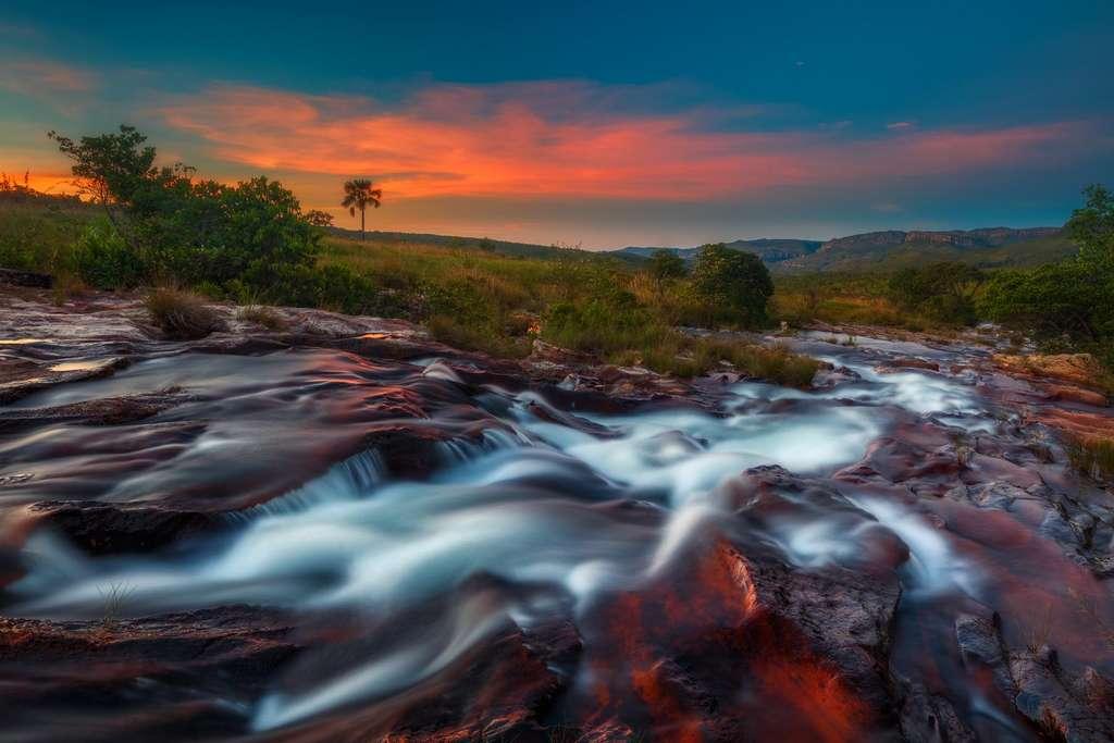 La rivière Prata au coucher du soleil