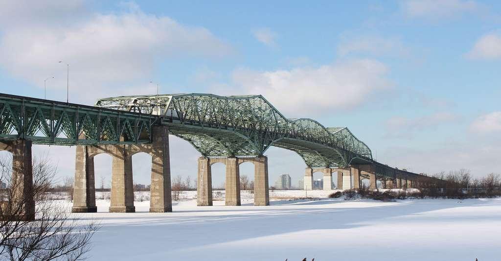 Vue vers Montréal de la berge du Saint-Laurent. © Martin Dubé, CC BY 2.0
