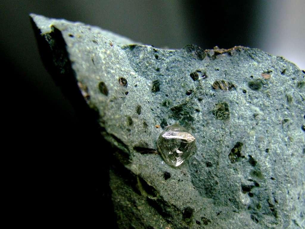 Diamant extrait de la mine de Finsch en Afrique du Sud. © StrangerThanKindness