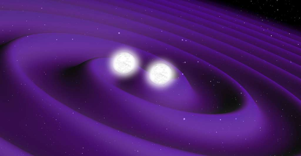 Deux étoiles à neutrons. © ESA, Wikimedia commons, CC by-sa 3.0 IGO