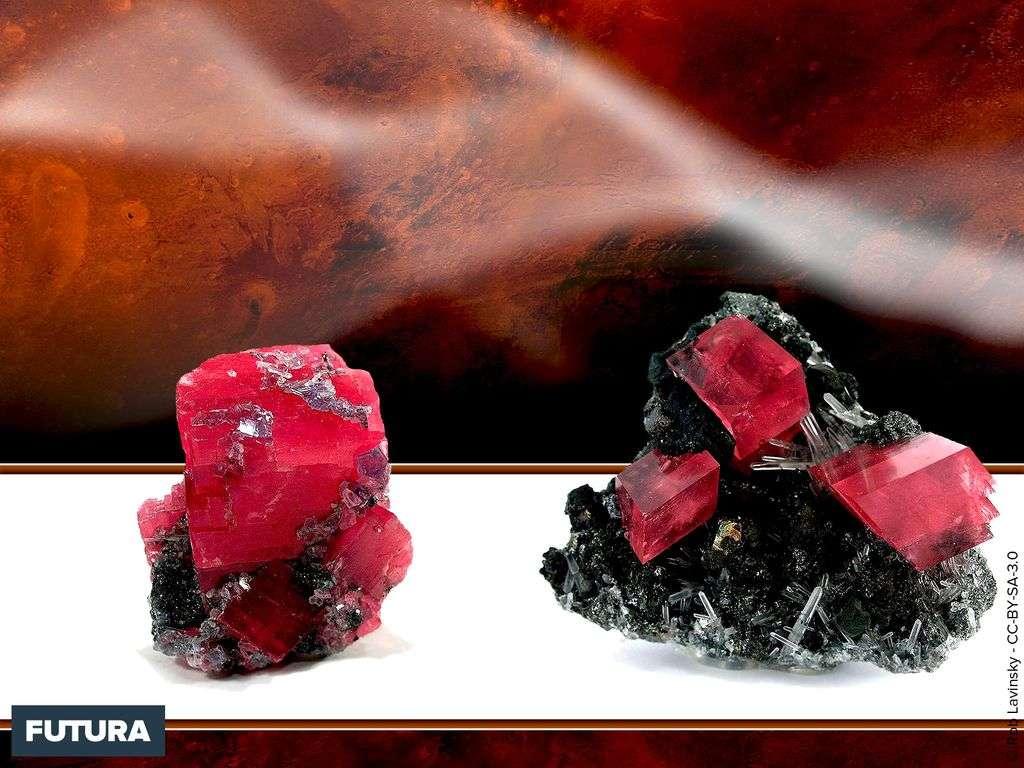Chalcopyrite, Quartz, Rhodochrosite