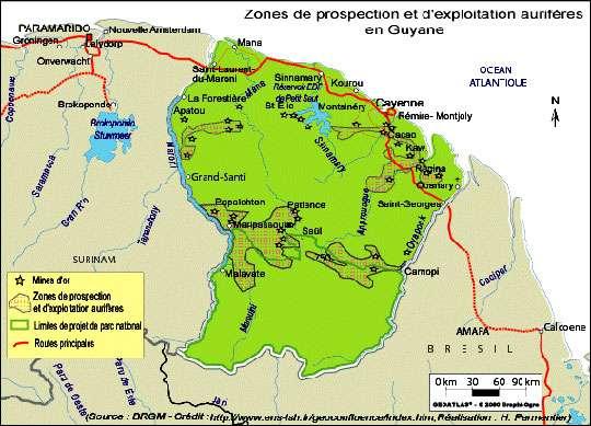 Mines or Guyane BRGM.