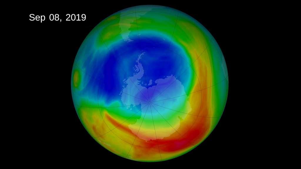 Le 8 septembre 2019, le trou dans la couche d'ozone au-dessus de l'Antarctique a atteint son maximum annuel. © Nasa
