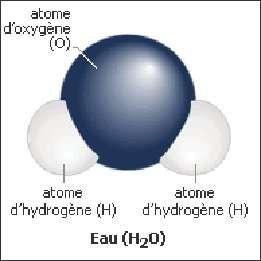 Molécule d'eau. © DR