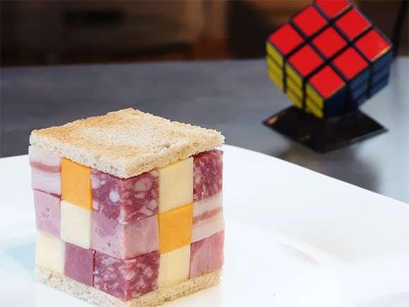 Un sandwich Rubik's cube !