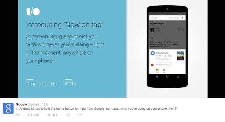 L'année dernière, Android Lollipop avait introduit d'importants changements esthétiques et ergonomiques. Android M est une mise à jour plus classique qui met davantage l'accent sur de nouvelles fonctionnalités, notamment en ce qui concerne les commandes vocales. © Google