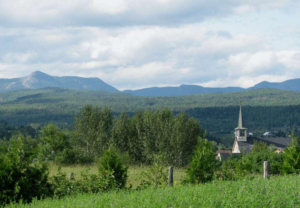 Village de Saint-Urbain, région de Charlevoix, au Québec. © Stéphane Batigne, GNU 1.2
