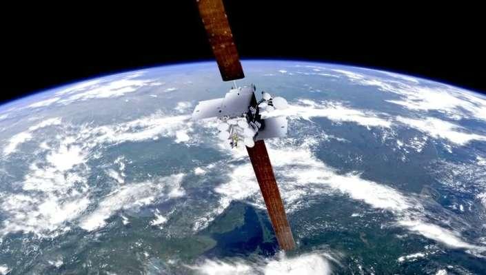 Trois satellites d'Inmarsat assureront la connexion à Internet en haut débit. Le système embarqué dans l'avion sera, quant à lui, mis en place par Honeywell. © Inmarsat