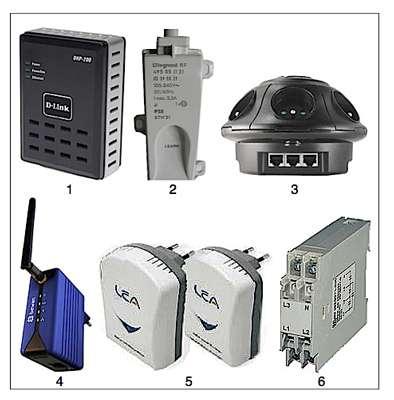 Adaptateur Ethernet transformant toute prise de courant en point de connexion d'un réseau CPL. Débits 85 Mbps. Sécurité par chiffrement de données. Conforme à la norme HomePlug. Se référer à la liste numérotée ci-dessous. © DR
