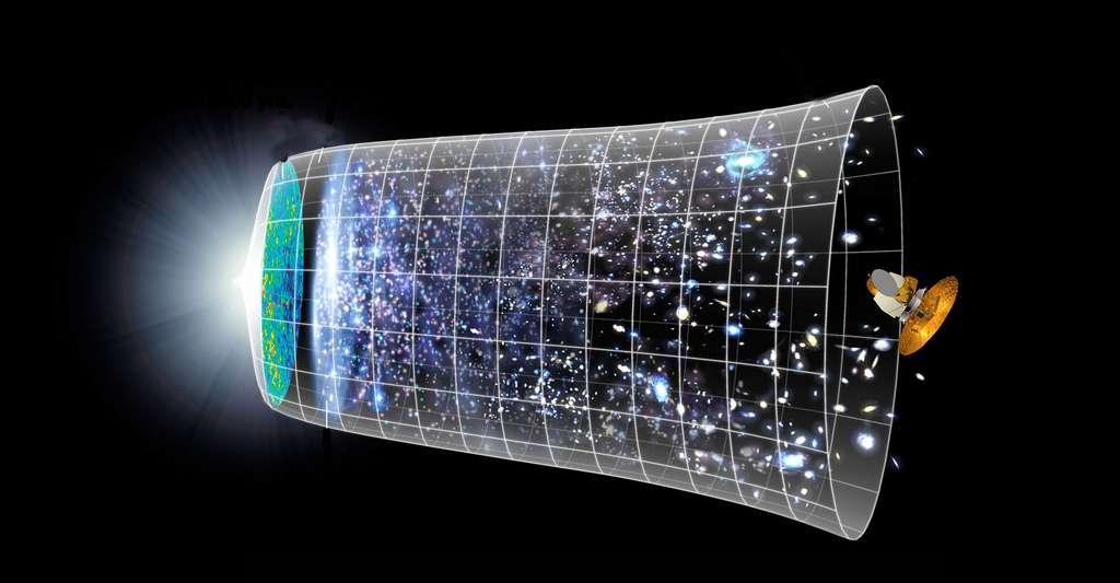 Notre monde est-il fini ou infini ? Ici, schéma de l'histoire de l'univers. © Luis Fernández García, Wikimedia Commons, DP
