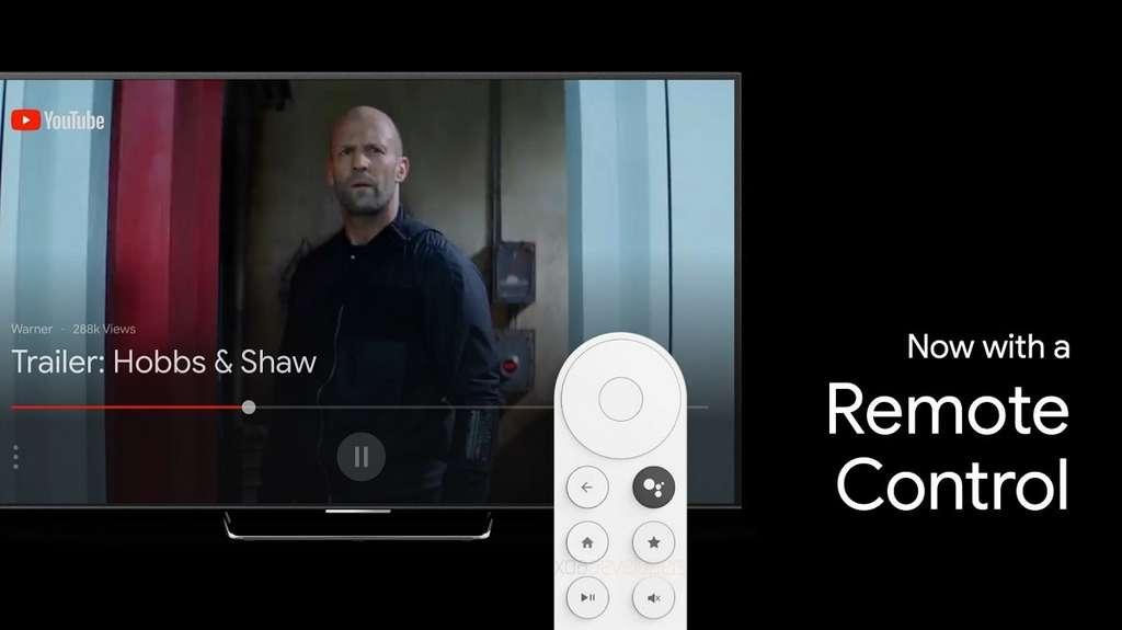 Ce qui différencie Sabrina d'une clé Chromecast, c'est sa télécommande © XDA Developers