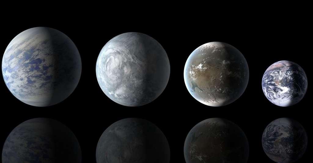 Corot et Kepler à la recherche d'exoplanètes. © Nasa, Ames, JPL-Caltech, Wikimedia Commons, DP