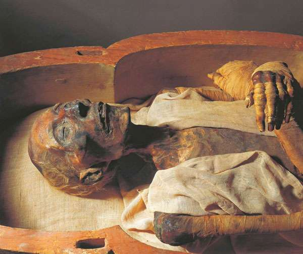 La momie de Ramsès II. © Le Caire, Musée égyptien, Dunod