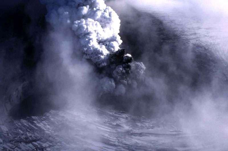 Éruption sous le glacier Vatnajökull, en Islande