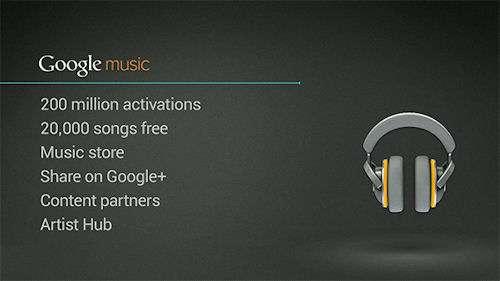 Concurrent direct d'iTunes, Google Music mise sur le réseau social Google+ pour toucher le plus grand nombre. © Google