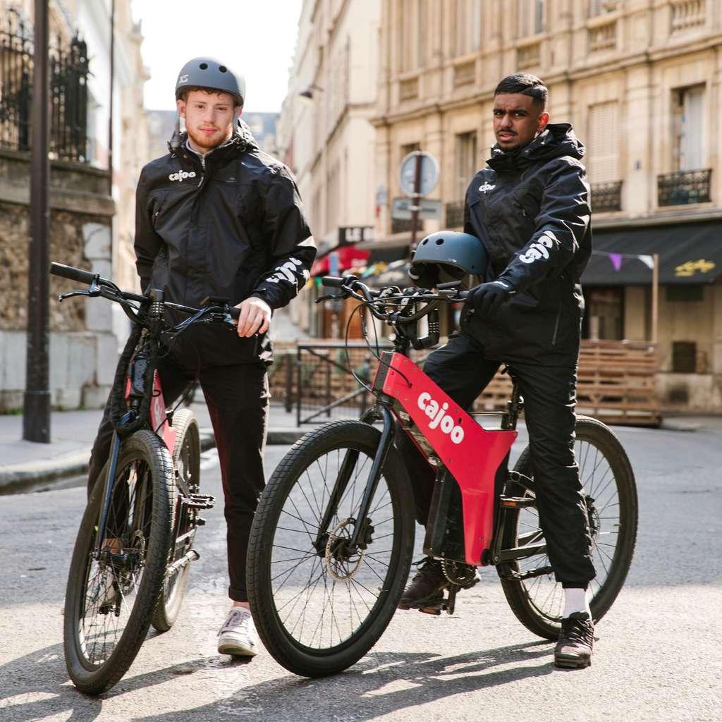La start-up Cajoo livre vos courses en 15 minutes chrono à vélo électrique. © Cajoo