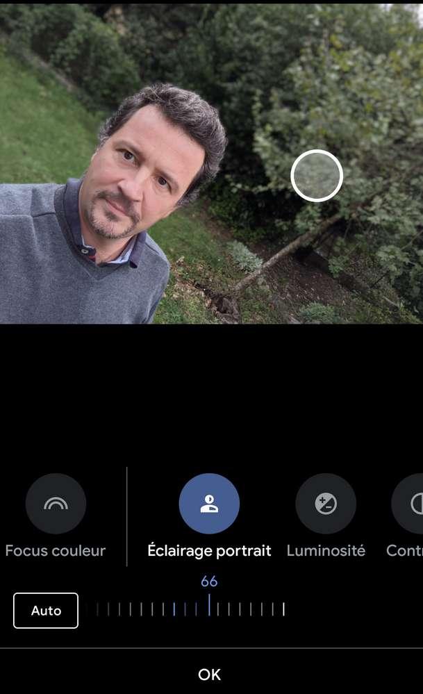 Google s'est taillé une réputation flatteuse avec le mode portrait de ses Pixel. On peut désormais modifier la direction de l'éclairage dans un portrait que l'on vient de prendre. © Marc Zaffagni