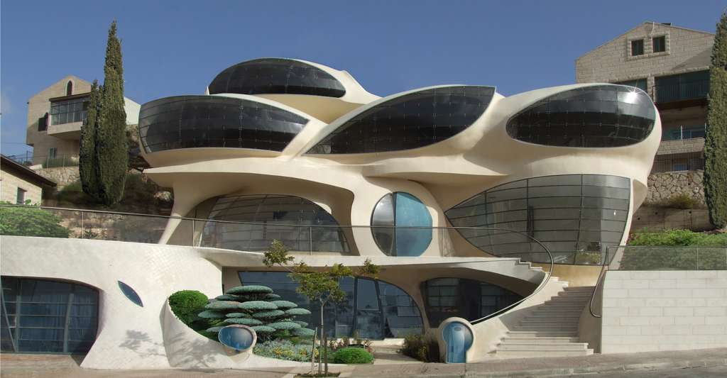 La Pavie-House, une maison solaire futuriste et biomorphique, en Israël