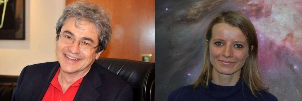 Pionniers de la gravitation et de la cosmologie quantique à boucles, Carlo Rovelli et Francesca Vidotto ont renouvelé le concept de trou noir en le remplaçant par celui d'étoile de Planck. La singularité centrale des trous noirs y serait éliminée car issue d'un artefact de traitement classique, non quantique, de la géométrie de l'espace-temps à petite échelle. © Francesca Vidotto, patrimoine de l'Institut international des sciences théoriques