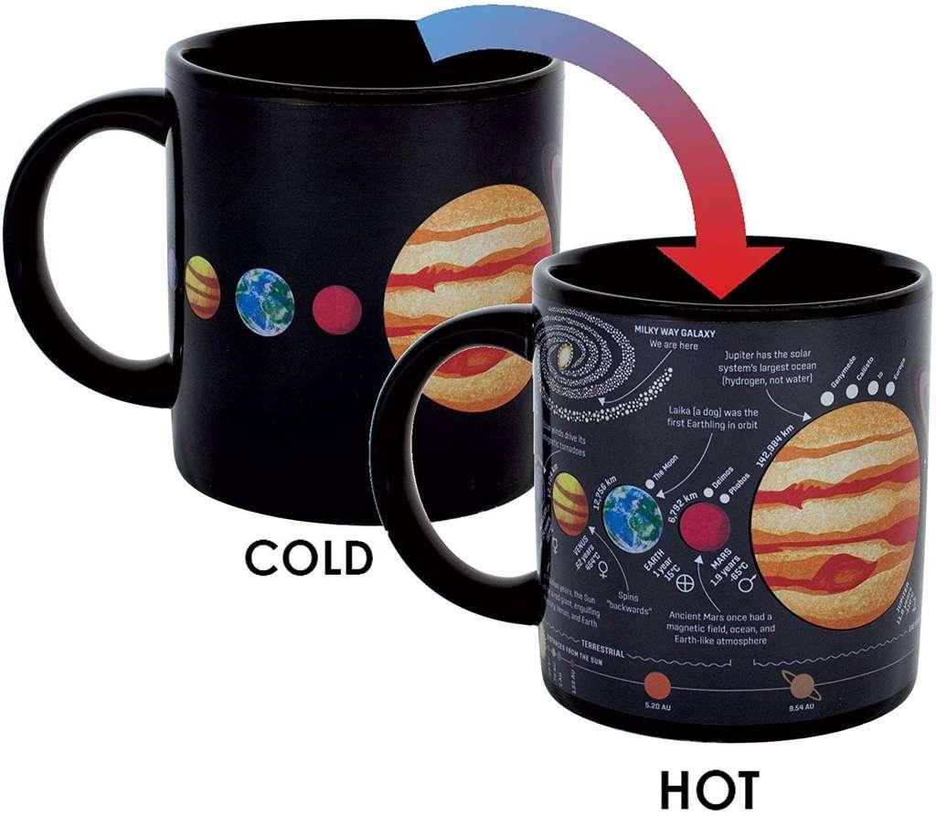 Le mug thermoréactif système solaire : 19,58 euros sur Amazon