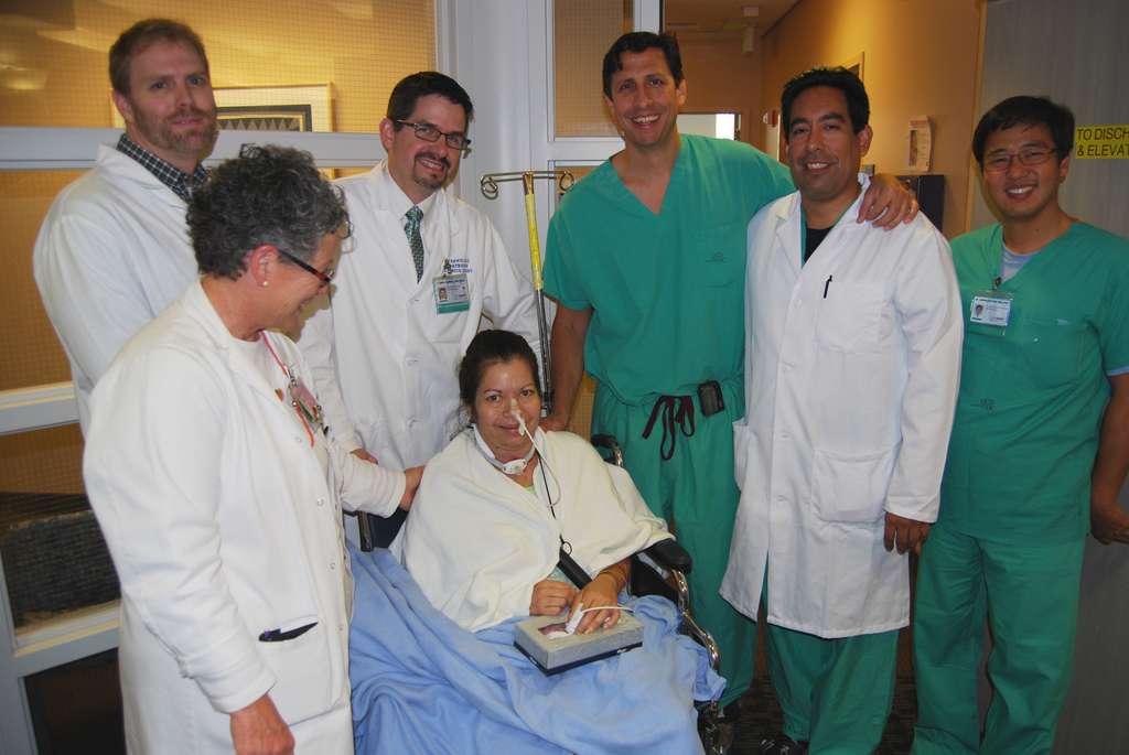 Les premiers mots de Brenda Jensen, seulement 13 jours après son opération. © UC Davis Health System