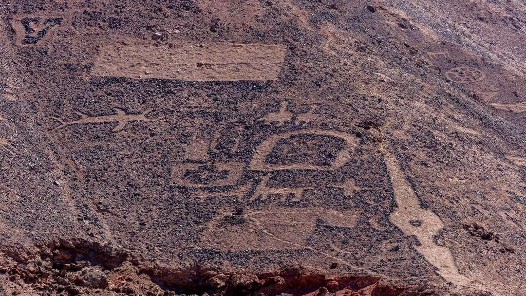 Les géoglyphes de Cerros Pintados au Chili
