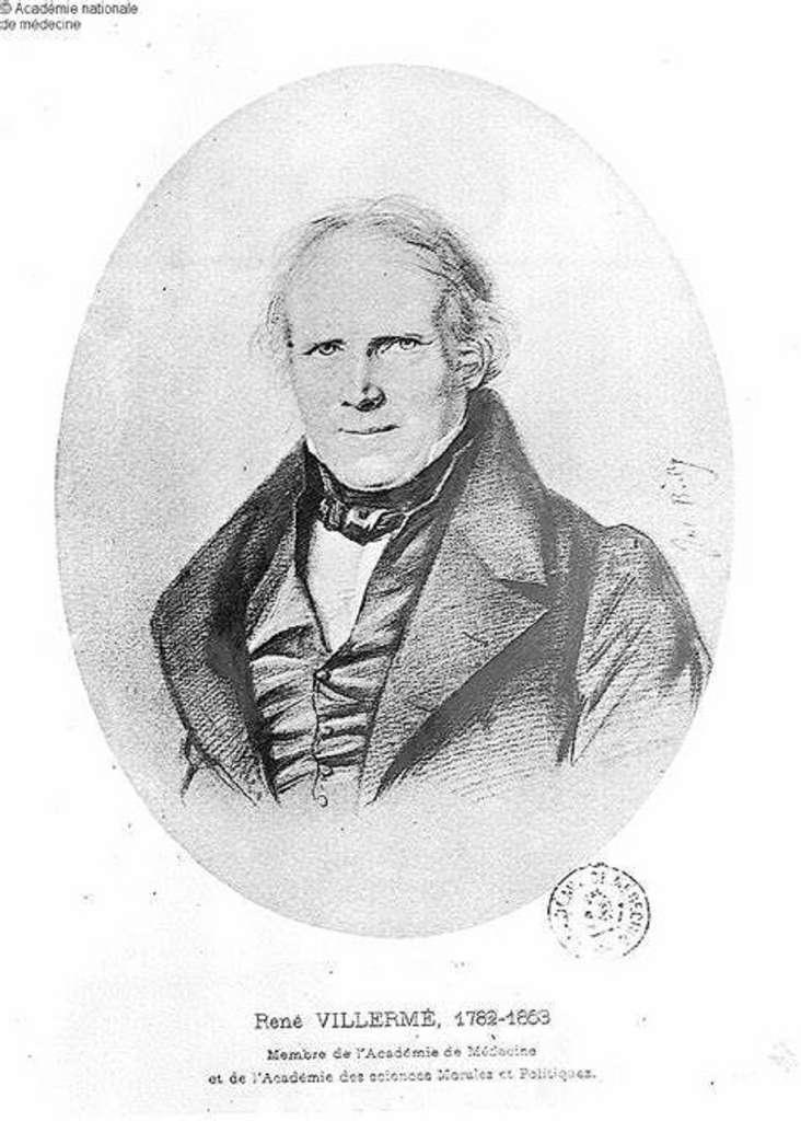 Portrait de Louis René Villermé (1782-1863) ; bibliothèque inter-universitaire de médecine, BIU Santé Paris. © Académie nationale de médecine.