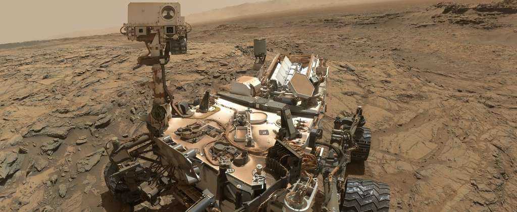 Autoportrait de Curiosity sur le site Windjana, à l'intérieur du cratère Gale, qui fut un lac voici plusieurs milliards d'années. © Nasa, JPL-Caltech, MSSS