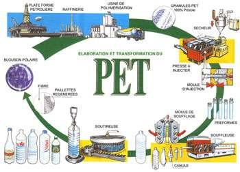 Le recyclage du PET et son circuit dans la consommation.