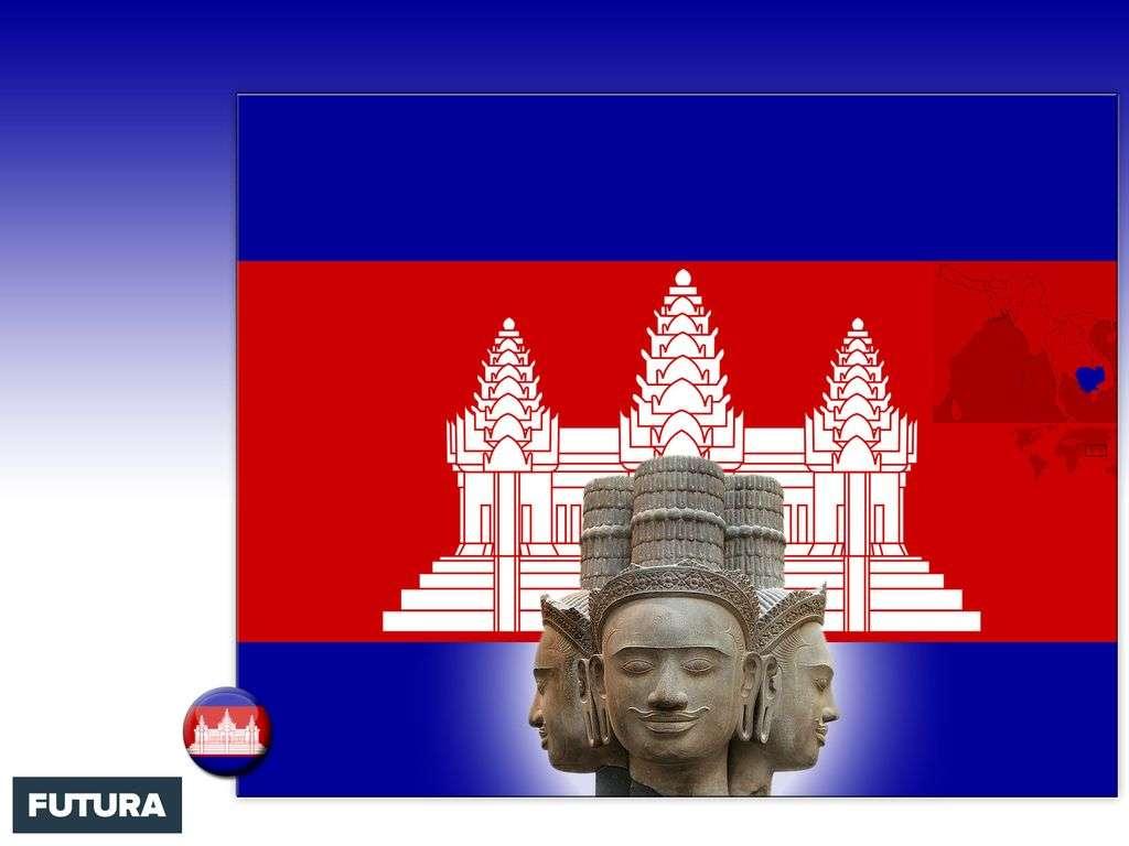 Drapeau : Cambodge