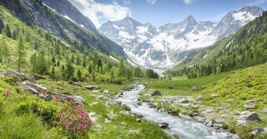 C'est sous forme de sable que les rivières charrient les éléments arrachés à la montagne par l'érosion. Ainsi pour dresser un tableau de l'érosion dans les Alpes, des chercheurs de l'université de Berne (Suisse) ont analysé le sable de plus de 350 rivières de montagne. © by paul, Adobe Stock