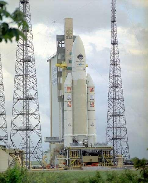 Ariane 5 dans l'attente du lancement