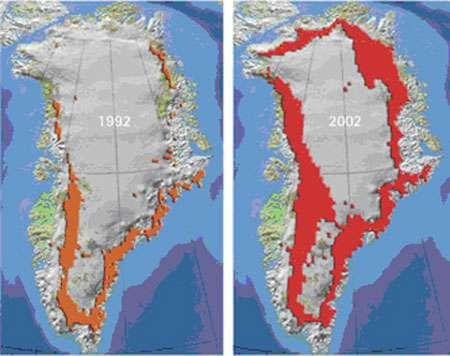 Fonte du Groenland. © DR, reproduction et utilisation interdites