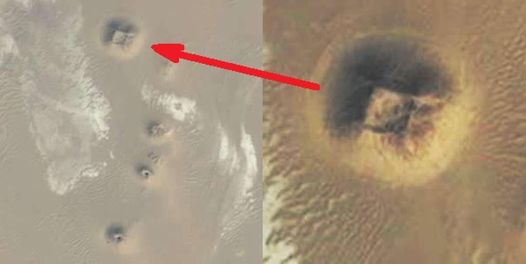Cette image, prise au-dessus de l'Égypte, cache-t-elle une pyramide encore ensevelie ou une colline naturelle ? © Google Earth